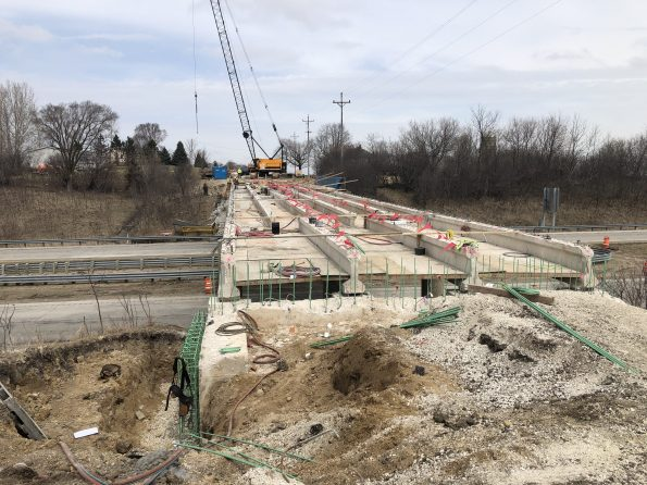 image of I-94 bridge being reconstructed