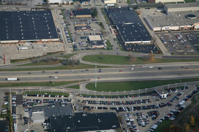 Image of Madison beltline from a top view