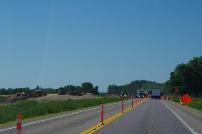 image of US 12 roadway during construction