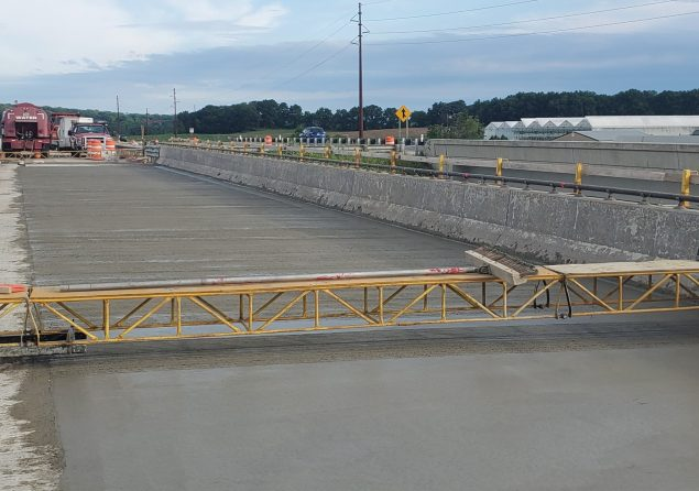 image of US 14 bridge over County MM during construction