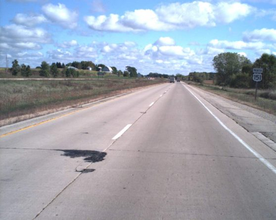 image of existing US 151 roadway