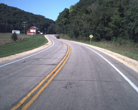 Image of existing US 18 roadway