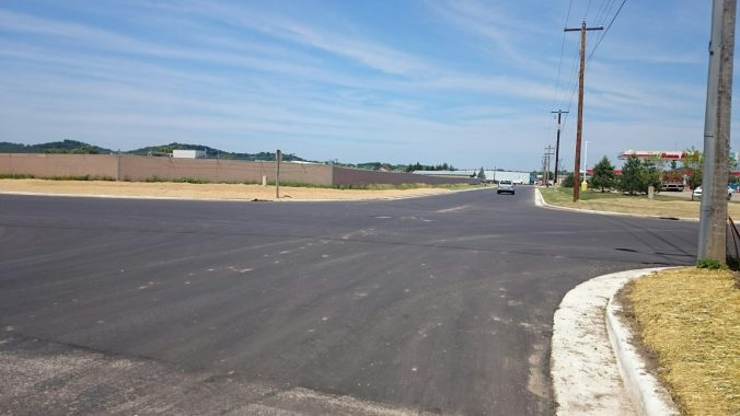image of finished Roberts Road construction