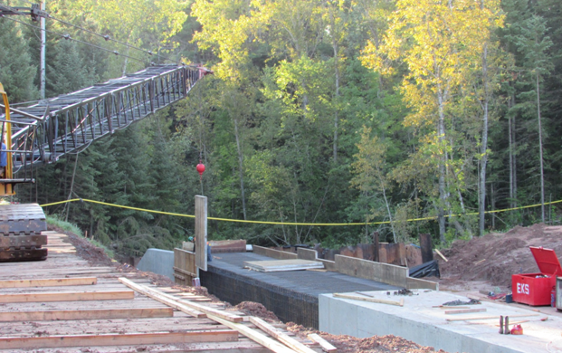 Wall forms – WIS 35 South of Superior-Stony Brook Creek