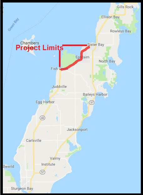 Project Overview – WIS 42 Door County on