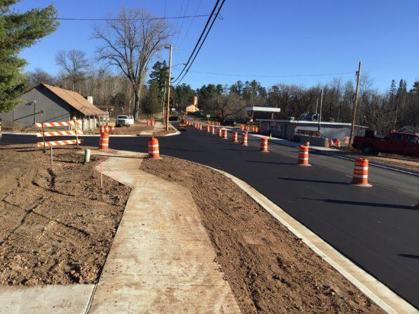 New asphalt on Highway 47 in Keshena