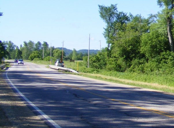 Image of existing WIS 58 roadway and bridge