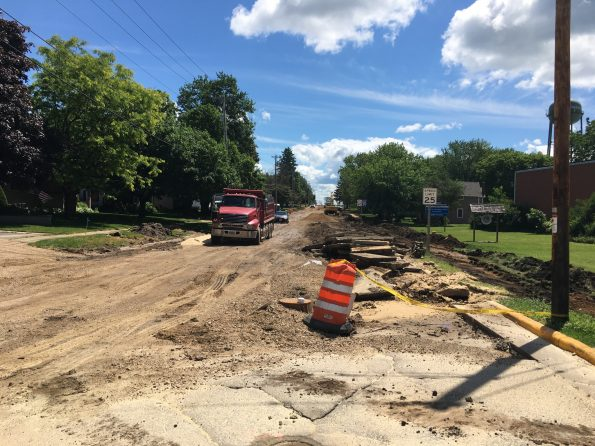 image of road construction on WIS 60 in Arlington