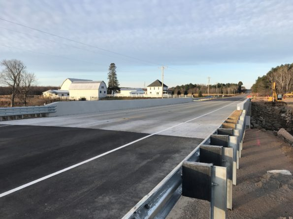 A new bridge on WIS 64, reopened.