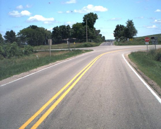image of existing WIS 89/County T intersection